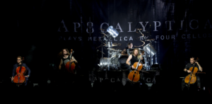 Apocalyptica, cello players, Finnish cello metal band, violoncellisti, metal sinfonico, symphonic metal, alternative metal, gothic metal, neoclassical metal, heavy metal, metal strumentale, instumental metal, Eicca Toppinen, Paavo Lötjönen, Perttu Kivilaakso, Mikko Sirén, Sybelius Academy, Plays Metallica by Four Cellos, Inquisition Symphony, Cult, Reflections, Worlds Collide, 7th Symphony, Shadowmaker, Plays Metallica By Four Cellos (Remastered), Resurrection, Somewhere Around Nothing, Path Vol.2, Bittersweet feat. Ville Valo, Lauri Ylönen, Life Burns!, I'm Not Jesus feat. Corey Taylor, Last Hope feat. Dave Lombardo, S.O.S (Anything But Love) feat. Cristina Scabbia, Helden feat. Till Lindemann, End of Mefeat. Gavin Rossdale, Not Strong Enoughfeat.Brent Smith, Bring Them to Lightfeat.Joe Duplantier, Shadowmaker feat. Franky Perez , Apocalyptica live show
