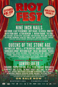 Riot Fest Chicago USA, Riot Fest Chicago, Chicago, Illinois, USA, 15th – 17th September 2017,NOTHING MORE, A DAY TO REMEMBER, NINE INCH NAILS, QUEENS OF THE STONE AGE, JAWBRAKER, PARAMORE, PROPHETS OF RAGE, PENNIWISE, DINOSAUR JR., NEW ORDER,heavy metal, glam metal, groove metal, trash metal, power metal, rock, hard rock, post punk, alternative metal, post hardcore, UPCOMING ROCK AND METAL EVENTS AROUND THE WORLD September 2017, festivals, festival, concerts