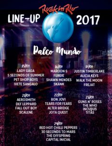 Rock In Rio Lineup 2017, Rock in Rio 2017, Rio De Janeiro, BRAZIL, 15th-17th September 2017, 21st- 24th September 2017,THE WHO, GUNS 'N ROSES, AEROSMITH, BON JOVI, RED HOT CHILLI PEPPERS, ALICE COOPER, BILLY IDOL, ALTER BRIDGE, INCUBUS, THE OFFSPRING, 30 SECONDS TO MARS, DEF LEPPARD, FALL OUT BOY, SEPULTURA heavy metal, glam metal, groove metal, trash metal, power metal, rock, hard rock, post punk, alternative metal UPCOMING ROCK AND METAL EVENTS AROUND THE WORLD September 2017, festivals, festival, concerts