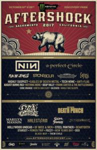 AFTERSHOCK - OTTOBRE 2017, Aftershock festival, NINE INCH NAILS, A PERFECT CIRCLE, STONE SOUR, GOJIRA, AUGUST BURNS RED, NOTHING MORE, MASTODON , OZZY OSBOURNE, HALESTORM, FIVE FINGER DEATH POUNCH, MARILYN MANSON, SUICIDAL TENDENCIES, OF MICE & MEN, IN THIS MOMENT, BEARTOOTH, 21st – 22nd October 2017