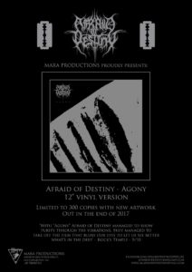 Afraid Of Destiny flyer, Afraid Of Destiny, Adimere, R.F., Atom Krieg, atmospheric depressive metal, Vitam Nihil Est, Tears Of Solitude, Hatred Towards Myself, Rehearsals, Demo, Agony, Razed Soul Productions, Mara Productions, Sinister Catechon, Intro, A Journey Into Nothingness (Part 1), A Journey Into Nothingness (Part 2), Rain, Scars, and the Climb, Autumn Equinox, Hatred Towards Myself, Into The Darkness, Sweet Illness Of Mine (Lifelover cover), Silence, Outro, dark ambient, listen to Afraid Of Destiny, listen to depressive black metal, recensione emergenti, recensione depressive black metal album, recensione tecnico strumentale, Adriano Pigna, sickandsound, emergenti, albums, Song Of The Week, Album Of The Week, Top 10 Songs Of The Week, weekly playlist, black metal
