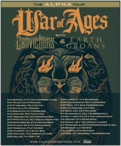 War of Ages Alpha Tour, War of Ages, War of Ages band, War of Ages metalcore band, War of Ages live in Newport Kentucky February 9th, 2018, Facedown Records, Alpha, War of Ages Alpha album, War of Ages latest album, War of Ages tour 2018, War of Ages Convictions Earth Groans, Convictions, Earth Groans, War of Ages The Alpha Tour, Creator, Fullness, Buried Alive, Warpath, Hollow Point, Repentance, Mind Control, Immunity Revoked , Warrior, Cut Throat, Anthony Talanca, Junior Editor and Live Reporter, sickandsound, metalcore concert review, concert review, War of Ages The Alpha Tour review, War of Ages Newport Kentucky review, Christian metalcore, Leroy Hamp, Steve Brown, Jack Daniels, Kaleb Luebchow, Andy Cutrell, War of Ages, Pride of the Wicked, Fire from the Tomb, Arise and Conquer, Eternal, Return to Life, Supreme Chaos, Alpha