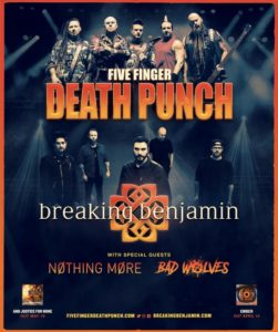 Five Finger Death Punch Breaking Benjamin Nothing More Bad Wolves, Five Finger Death Punch, Five Finger Death Punch band, Five Finger Death Punch upcoming album, Five Finger Death Punch And Justice For None, Five Finger Death Punch And Justice For None album, Five Finger Death Punch Got Your Six, sickandsound, alternative metal, hard rock, heavy metal, nu metal, 5FDP, FFDP, Five finger death punch a decade of deconstruction, metalcore, progressive rock, five finger death punch greatest hits album, Ivan Moody, Zoltan Bathory, Jason Hook, Chris Kael, Jeremy Spencer, The Way of the Fist, War Is the Answer, American Capitalist, The Wrong Side of Heaven and the Righteous Side of Hell Volume 1 2013 – The Wrong Side of Heaven and the Righteous Side of Hell Volume 2 2015 – Got Your Six, Listen to Five Finger Death Punch And Justice For None, Stream Five Finger Death Punch And Justice For None, Eleven Seven Music, Five Finger Death Punch Breaking Benjamin Tour 2018, Five Finger Death Punch Breaking Benjamin Nothing More Bad Wolves, Five Finger Death Punch Breaking Benjamin tour dates, Nothing More European summer Tour 2018, Nothing More Guns n' Roses Volbeat Barcelona, Nothing More Guns n' Roses, Breaking Benjamin Ember, Nothing More The Stories We Tell Ouselves, Nothing More, Bad Wolves, Five Finger Death Punch And Justice For None standard, Five Finger Death Punch And Justice For None deluxe, Five Finger Death Punch And Justice For None tracklist, Kinda Agency, KINDA, Trouble, Fake, Top Of The World, Sham Pain, Blue On Black ,Fire In The Hole ,I Refuse ,It Doesn't Matter ,When The Seasons Changen, Stuck In My Ways ,Rock Bottom ,Gone Away ,Bloody, Will The Sun Ever Rise ,Bad Seed ,Save Your Breath