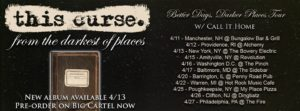 This Curse Better Days Darker Places Tour, This Curse, This Curse band, This Curse metalcore band, Austin Griswold, Secret service PR, metalcore album review, sickandsound, melodic metalcore, metalcore, post-hardcore, This Curse From The Darkest Of Places EP, This Curse From The Darkest Of Places tracklist, This Curse From The Darkest Of Places review, This Curse From The Darkest Of Places recensione, Ethan Kennedy, Joey Galletta, Blake Van Curen, Branton Shpilevsky , Jake Fletcher, I've Seen Hell, Separate Yourself, Emergence, From The Darkest Of Places EP, This Cirse Quicksand video, Andreas Magnusson, Ricky Armellino, From The Darkest Of Places, Trauma Bond, Waiting, Free Fall, Whitecap, Usurper, Letting Go, metalcore band from New Jersey, Better Days Darker Places Tour 2018 with Call It Home, This Curse Better Days Darker Places Tour, thiscurseband, This Curse interview, an interview with This Curse,The Blessing Of This Curse, Listen to This Curse From The Darkest Of Places, Stream This Curse From The Darkest Of Places
