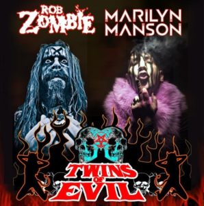Twins Of Evil Tour Marilyn Manson Rob Zombie, The Electric Warlock Acid Witch Satanic Orgy Celebration Dispenser, Rob Zombie, Rob Zombie Marilyn Manson, Rob Zombie Marilyn Manson Twins Of Evil Tour, Twins Of Evil Tour 2018, Rob Zombie and Marilyn Manson on tour in 2018, Marilyn Manson, Brian Hugh Warner, Marilyn Manson new album, Rob Zombie latest album, Industrial metal, Alternative metal, Hard rock, Gothic rock, Gothic metal, sickandsound, Robert Bartleh Cummings, Twins of Evil: the second coming, Twins of Evil, Gerswin Reynolds, Tour Announcement: Twins of Evil Tour 2018: The Second Coming