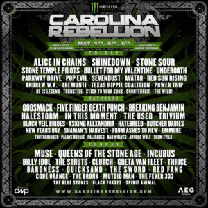 Carolina Rebellion May 2018,Alice In Chains, Shinedown, Incubus, Muse, Queens of the Stone Age, Stone Sour, Parkway Drive, Breaking Benjamin, In This Moment, Clutch, Power Trip, He Is Legend, Sevendust, Godsmack, Five Finger Death Punch, In This Moment, Asking Alexandrai, Stone Temple Pilots, Shinedown, Trivium, Avatar, Tremonti, carolina rebellion, UPCOMING ROCK AND METAL EVENTS AROUND THE WORLD May 2018, sickandsound, US summer festivals, metal festival, concert dates, European Tour 2018, upcoming festivals, upcoming hard rock and metal festivals, festival, concerts, metalcore, deathcore, punk rock, hard rock, heavy metal, death metal, post-hardcore, hardcore