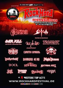 Rock Hard 2018, UPCOMING ROCK AND METAL EVENTS AROUND THE WORLD May 2018, Saxon, Overkill, Sodom, Dool, Tiamat, Traitor, Marduk, Ragnarok, Infernal War, rockhardfestival, Rock Hard Festival,UPCOMING ROCK AND METAL EVENTS AROUND THE WORLD May 2018, sickandsound, US summer festivals, metal festival, concert dates, European Tour 2018, upcoming festivals, upcoming hard rock and metal festivals, festival, concerts, metalcore, deathcore, punk rock, hard rock, heavy metal, death metal, post-hardcore, hard rock