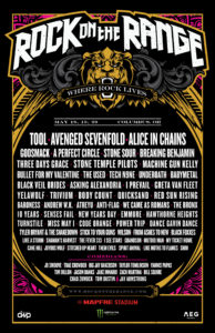Rock on the Range, Tool, Avenged Sevenfold, Alice In Chains, Godsmack, A Perfect Circle, Stone Sour, Breaking Benjamin, Underoath, Three Days Grace, Stone Temple Pilots, Body Count, Three Days Grace, Quicksand, Asking Alexandria, My Ticket Home, UPCOMING ROCK AND METAL EVENTS AROUND THE WORLD May 2018, sickandsound, US summer festivals, metal festival, concert dates, European Tour 2018, upcoming festivals, upcoming hard rock and metal festivals, festival, concerts, metalcore, deathcore, punk rock, hard rock, heavy metal, death metal, post-hardcore