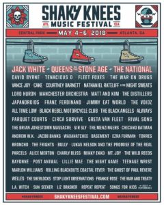 Shaky Knees Festival , Jack White, Franz Ferdinand, Queens of the Stone Age, The National, Tenacious D, Cake, Manchester Orchestra, Andrew W.K., Jimmy Eat World, Greta Van Fleet, The Distillers, Circa Survive, UPCOMING ROCK AND METAL EVENTS AROUND THE WORLD May 2018, sickandsound, US summer festivals, metal festival, concert dates, European Tour 2018, upcoming festivals, upcoming hard rock and metal festivals, festival, concerts, metalcore, deathcore, punk rock, hard rock, heavy metal, death metal, post-hardcore, hardcore punk