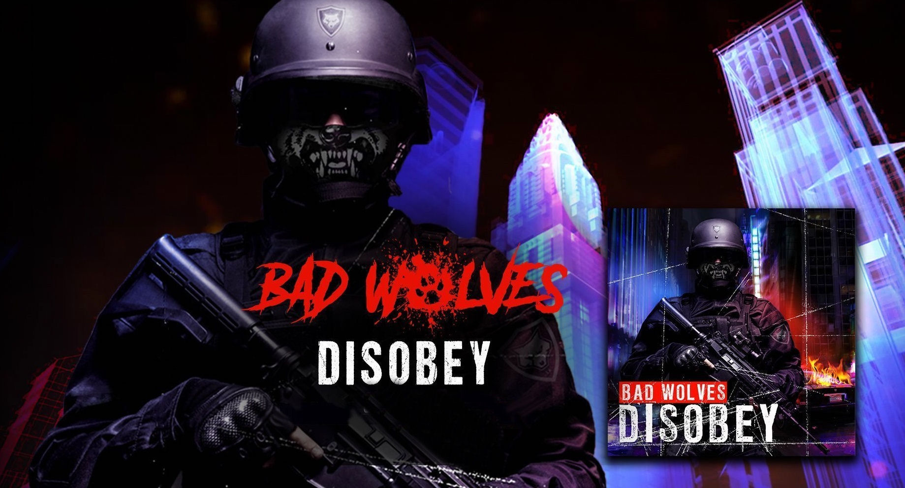 Bad Wolves Disobey review, Bad Wolves, Bad Wolves band, Bad Wolves metalcore band, Bad Wolves Disobey, Bad Wolves debut album, DevilDriver, Bad Wolves False Flags Volume I, Bad Wolves False Flags Volume II, Listen to Bad Wolves Disobey, Stream Bad Wolves Disobey, Bad Wolves Disobey review, Bad Wolves Disobey recensione, Bad Wolves False Flags Volume I recensione, Bad Wolves False Flags Volume I review, Zombie, Officer Down, Better Than The Devil, Shape Shifter, Bad Wolves Disobey, Officer Down, Learn To Live, No Masters, Zombie, Run For Your Life, Remember When, Better The Devil, Jesus Slaves, Hear Me Now, Truth Or Dare, The Conversation, Shape Shifter, Toast To The Ghost, badwolvesofficial, KINDA Agency, Eros Pasi, metalcore, alternative metal, Tommy Vext, Doc Coyle, Chris Cain, Kyle Konkiel, John Boecklin, altermative metal, metalcore albums 2018, metalcore bands, metalcore albums, Top metalcore albums 2018, I Swear, Pacifico, Blood And Bones