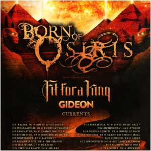 Currents Born Of Osiris Fit for A King, Born Of Osiris Tour, Born Of Osiris Fit for A King Currents Glass Hands, Currents live report May 4th 2018 Indianapolis Indiana, Born Of Osiris tour featuring Glass Hands Currents Fit For A King and Born Of Osiris, Anthony Talanca, post-hardcore, metalcore, djent, progressive metal, live reports, metalcore live report, sickandsound, Currents, Born Of Osiris, Sumerian Records, SharpTone Records, Fit For A King, Glass Hands, Currents band live, Born Of Osiris band live, Fit For A King band live, Born Of Osiris openinct acts Currents Fit For A King Glass Hands, currentsofficial, Brian Wille, Chris Wiseman, Dee Cronkite, Jeff Brown, Ryan Castaldi, Currents live at Emerson Theatre Indianapolis, Apnea, Tremor, Silence, Currents The Place I Feel Safest, Currents tour 2018, Fit For A King Shattered Glass, Stacking Bodies, Fit For A King tour 2018, Live report Currents + Glass Hands + Fit For A King + Born Of Osiris, concert review, metalcore concerts May 2018, deathcore