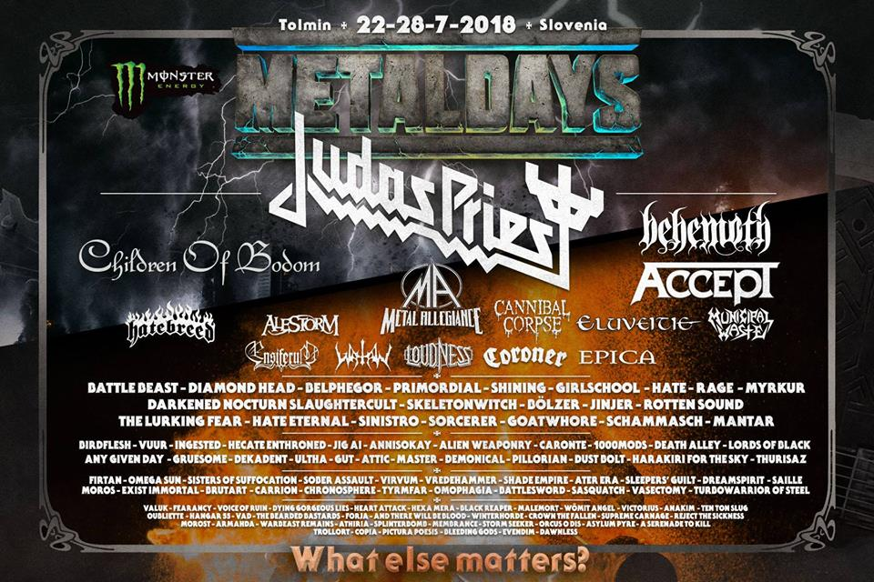 Metaldays 2018, UPCOMING ROCK AND METAL EVENTS AROUND THE WORLD July 2018, sickandsound, US summer festivals, metal festival, concert dates, European Tour 2018, upcoming festivals, upcoming hard rock and metal festivals, festival, concerts, metalcore, deathcore, punk rock, hard rock, heavy metal, death metal, post-hardcore, alternative metal, alternative rock, Rugby Sound Festival, Alice In Chains European Tour, A Perfect Circle Italian date, A Perfect Circle European Tour, Iced Earth European Tour, Myles Kennedy European Tour, Lacuna Coil Italian date, Lacuna Coil European Tour, Pennywise European Tour, Deep Purple European Tour, Rock In Roma 2018, Summerfest 2018, TRNSMT festival, Roskilde Festival 2018, Prophets Of Rage European Tour, Hollywood Vampires European Tour, Rock For People 2018, Open'er Festival 2018, Rockwerchter 2018, Les Eurockéennes festival, Mogwai European Tour, Iron Maiden Legacy Of The Beast European Tour, Nos Alive 2018, Rock Fest Wisconsin 2018, 2000trees 2018, Rock In Park Open Air 2018 Grosseto, Inkcarceration Music and Tattoo Festival, Obscene Extreme Festival 2018, Colony Summer Fest, Joe Satriani What Happens Next Tour, Milano Summer Festival 2018, Scorpions Crazy World Tour, MetalDays 2018, Impact Music Festival, Heavy Montreal, EPICA European Tour, EPICA Italian date