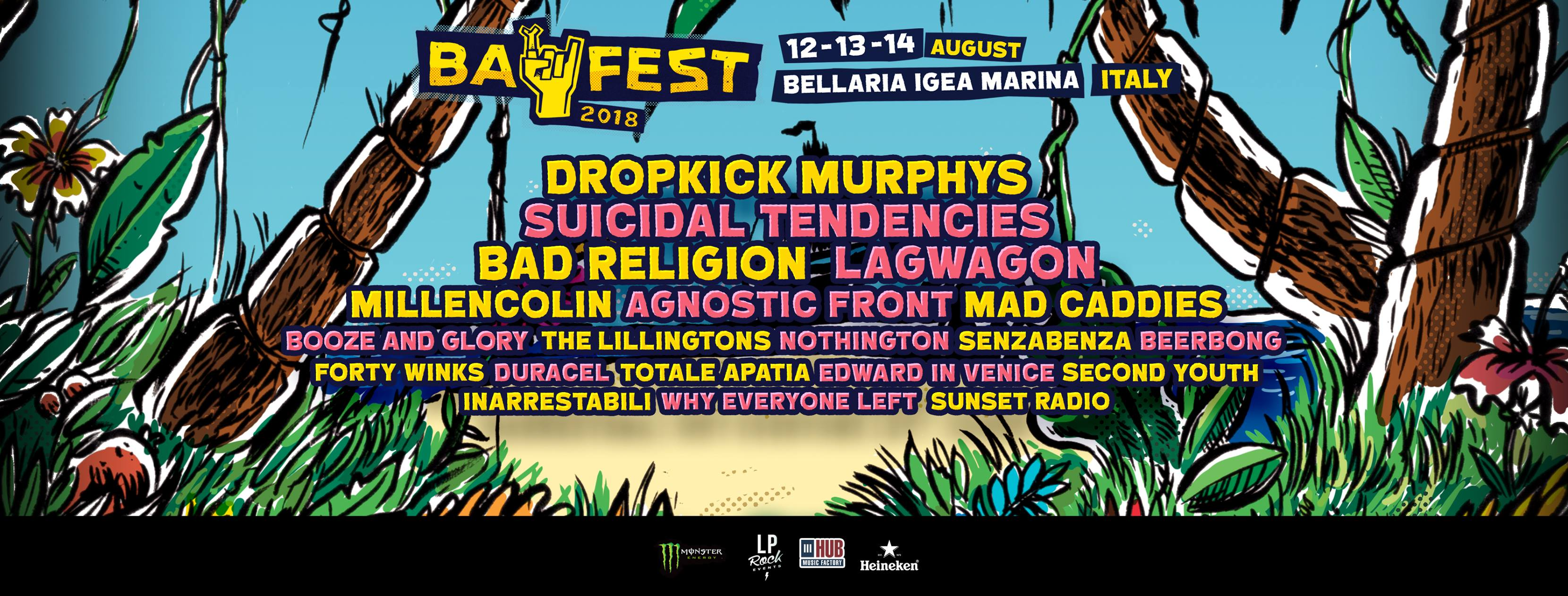 Bay Fest 2018 preview, Bay Fest 2018, Bay Fest 2018 lineup, Bay Fest 2018 bands, bayfestsummer, bayfest18, Bay Fest Bellaria Igea Marina 12 13 14 Agosto 2018, LP Rock Events, Andrea Cantelli, sickandsound, hardcore, hardcore punk, punk rock, Dropkick Murphys, Agnostic Front, Suicidal Tendencies, Bad Religion, Millencolin, Lagwagon, Mad Caddies, The Lillingtons, Beerpong, Forty Winks, Duracel, Why Everyone Left, The Flatliners, Second Youth, Inarrestabili, Totale Apatia, Senzabenza, Edward In Venice, Sunset Radio, Bay Fest Parco Pavese Beky Bay Bellaria Igea Marina, Baycamp, Upcoming events August 2018, Upcoming festivals August 2018, punk rock festival, punk rock festivals 2018, hardcore festival, hardcore festivals 2018, punk rock festivals Italy, Upcoming events August 2018, UPCOMING ROCK AND METAL EVENTS AROUND THE WORLD August 2018, bayfest18, bayfestsummer, Bay Fest Parco Pavese