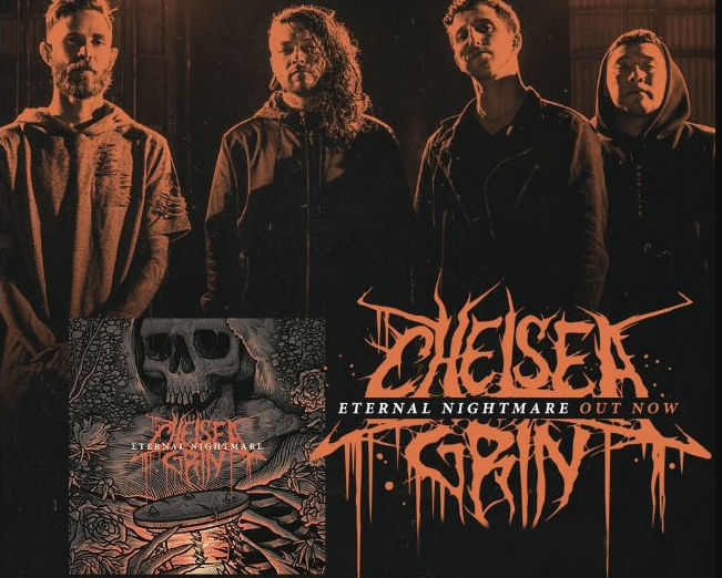 Chelsea Grin Eternal Nightmare review, Chelsea Grin Eternal Nightmare, Chelsea Grin, Chelsea Grin band, Chelsea Grin deathcore band, Rise Records, KINDA, KINDA Agency, Sam Batista, Tom Barber, Stephen Rutishauser, David Flinn, Pablo Viveros, Desolation of Eden, My Damnation, Ashes to Ashes, Self Inflicted, Eternal Nightmare, Chelsea Grin EP, Evolve EP, Chelsea Grin Eternal Nightmare album, Chelsea Grin Eternal Nightmare tracklist, Stream Chelsea Grin Eternal Nightmare, Listen to Chelsea Grin Eternal Nightmare, new album by Chelsea Grin, sickandsound, deathcore, metalcore, grindcore, deathcore bands, deathcore albums 2018, deathcore songs, Dead Rose, The Wolf, Across The Earth, See You Soon, 9:30 AM, Limbs, Scent Of Evil, Hostage, Nobody Listened, Outliers, Eternal Nightmare, Chelsea Grin Eternal Nightmare recensione, Chelsea Grin Eternal Nightmare review