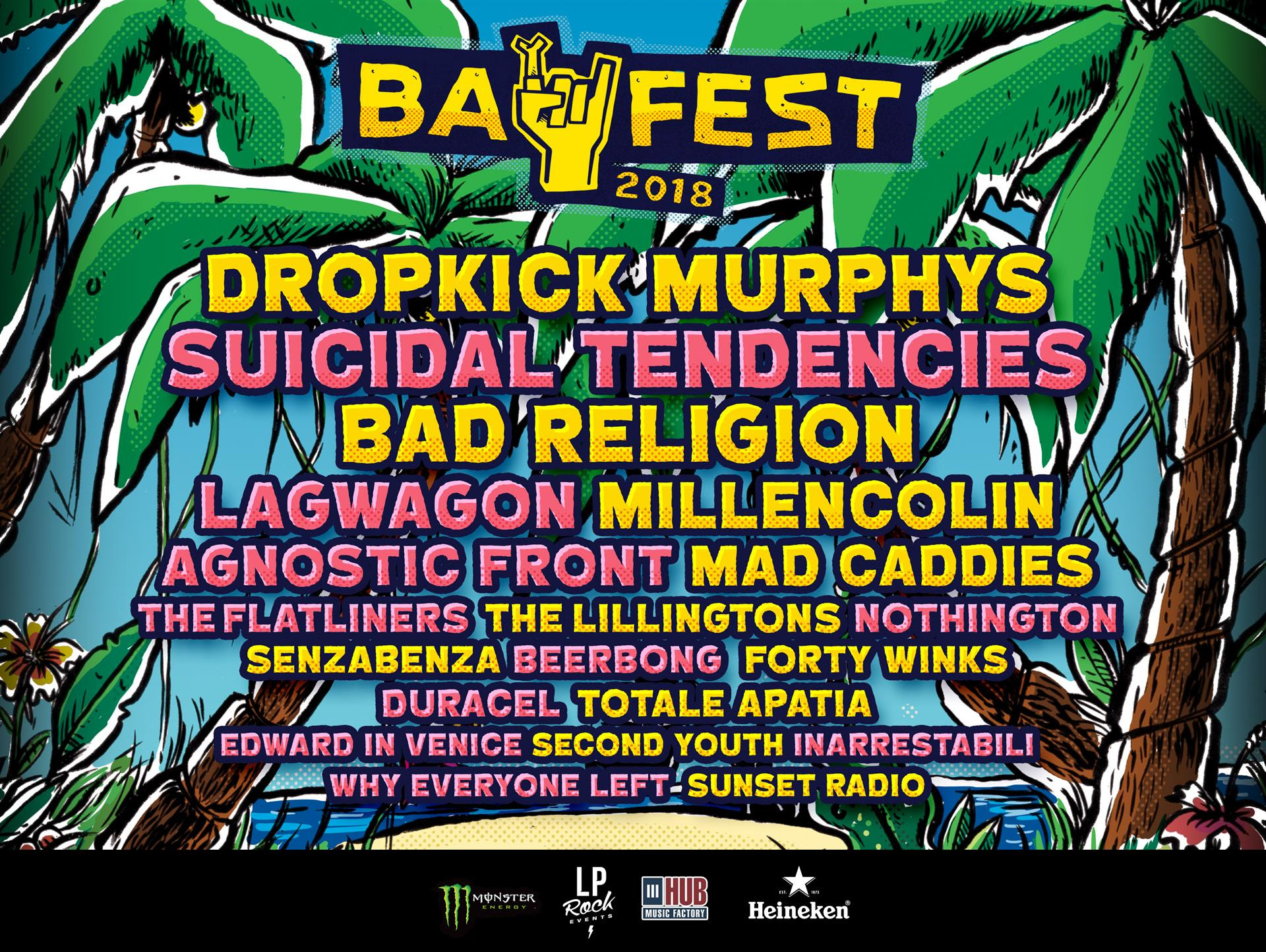 Bay Fest 2018, Bay Fest 2018 lineup, Bay Fest 2018 bands, bayfestsummer, bayfest18, Bay Fest Bellaria Igea Marina 12 13 14 Agosto 2018, LP Rock Events, Andrea Cantelli, sickandsound, hardcore, hardcore punk, punk rock, Dropkick Murphys, Agnostic Front, Suicidal Tendencies, Bad Religion, Millencolin, Lagwagon, Mad Caddies, The Lillingtons, Beerpong, Forty Winks, Duracel, Why Everyone Left, The Flatliners, Second Youth, Inarrestabili, Totale Apatia, Senzabenza, Edward In Venice, Sunset Radio, Bay Fest Parco Pavese Beky Bay Bellaria Igea Marina, Baycamp, Upcoming events August 2018, Upcoming festivals August 2018, punk rock festival, punk rock festivals 2018, hardcore festival, hardcore festivals 2018, punk rock festivals Italy, Upcoming events August 2018, UPCOMING ROCK AND METAL EVENTS AROUND THE WORLD August 2018, bayfest18, bayfestsummer, Bay Fest Parco Pavese, Andrea Ascani, Bay Fest 2018 live report, Bay Fest 2018 recensione, Bay Fest 2018 Day 1 2 3 live report, Dropkick Murphys Bay Fest 2018 live report