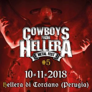 Cowboys from Hellera 5, Cowboys from Hellera #5 metal fest, Ministero del Metallo, Cowboys From Hellera, metal fest, Teatro Arca di Ellera di Corciano, Enclaves, Craving 4 Caffeine, SVLFVR, Battle Ram, Gorilla Pulp, Bloodtruth, Mortuary Drape, Emanuele Ragni, sickandsound, metal events, metal fest live report, Cowboys from Hellera #5 live report, Cowboys from Hellera #5 review, Cowboys from Hellera #5 recensione, Cowboys from Hellera #5 lineup, black metal, death metal, heavy metal, stoner rock, brutal death metal, cowboysfromhellera, concerti Cowboys from Hellera 2018, Cowboys from Hellera 2018, COWBOYS FROM HELLERA METAL FEST #5 @ Teatro Arca di Ellera di Corciano Perugia, Italian metal festival, concerti metal Novembre 2018, festival metal Novembre 2018, live reports