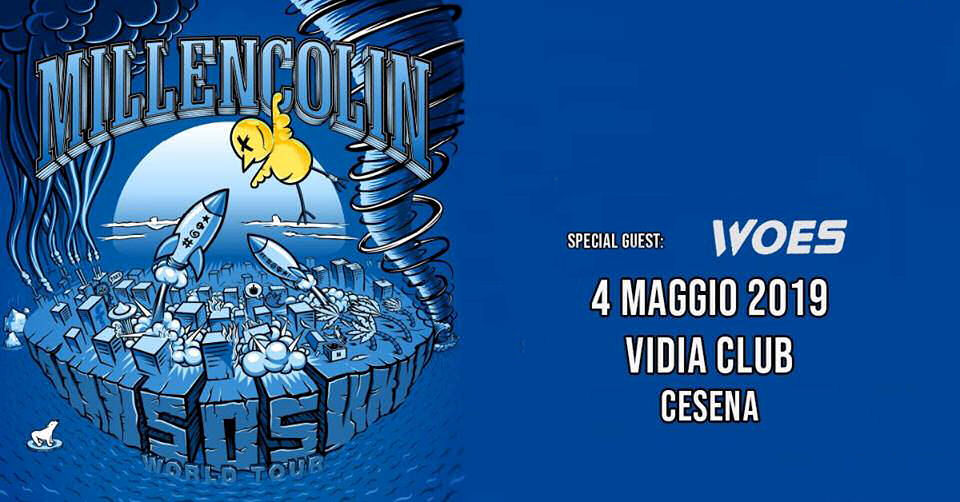 Millencolin + Woes Vidia Club live report, Millencolin + Woes Live @ Vidia Club Cesena 4 Maggio 2019, Millencolin European tour spring 2019, Millencolin + Woes Vidia Club live report, Millencolin live at Vidia Club 4 maggio 2019, Woes live at Vidia Club 4 maggio 2019, Millencolin, Woes, hardcore, hardcore punk, pop punk, sickandsound, KINDA, Kinda Agency, Luca Mattioli, Millencolin Vidia Club Cesena setlist, Millencolin setlist, Millencolin EU Tour live report, Millencolin concert review, SOS, Penguins & Polarbears, Fingers Crossed, Sense & Sensibility, Fox, Twenty Two, Sour Days, Olympic, The Ballad, Farewell My Hell, True Brew, Lozin' Must, Nothing, Pepper, Mr. Clean, Egocentric Man, Ray, Yanny & Laurel, Bullion, Duckpond, No Cigar, Black Eye, Millencolin SOS EU tour spring 2019, Millencolin Woes Cesena, Millencolin SOS album, Epitaph Records, UNFD, Woes Awful Truth album, Woes High on You, Woes Worst Friends
